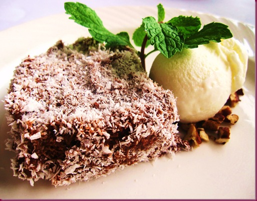 Lamington Ice Cream Cake